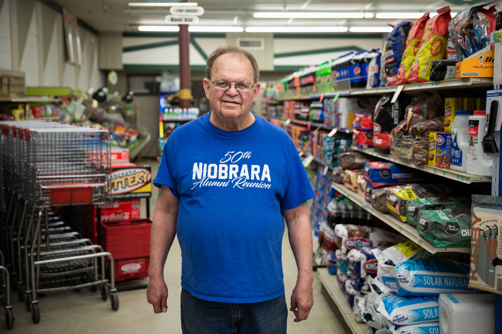 Ken Farnik - Ken Farnik says Farnik's Market in Niobrara, Nebraska, is struggling to stay in business since the flooding in March, due to fewer customers. Niobrara relies on  hunters and visitors to nearby Niobrara State Park to support its economy. (Anya Magnuson/News21)