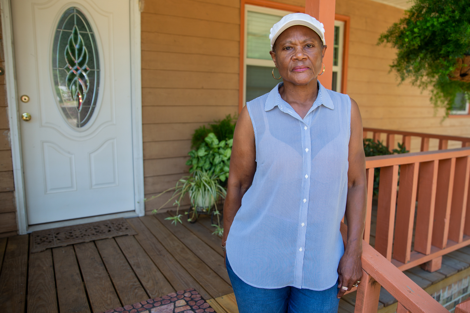 "Rose Campbell - Rose Campbell, 64, of Nichols, South Carolina, says she was ""sharp as a tack,"" before Hurricanes Mathew and Florence, but the stress has taken a toll on her mind. ""I'm hoping and praying, trusting that God will look down on his people, suffering from these two disasters,"" she said. ""You've got to have hope."" (Harrison Mantas/News21)"