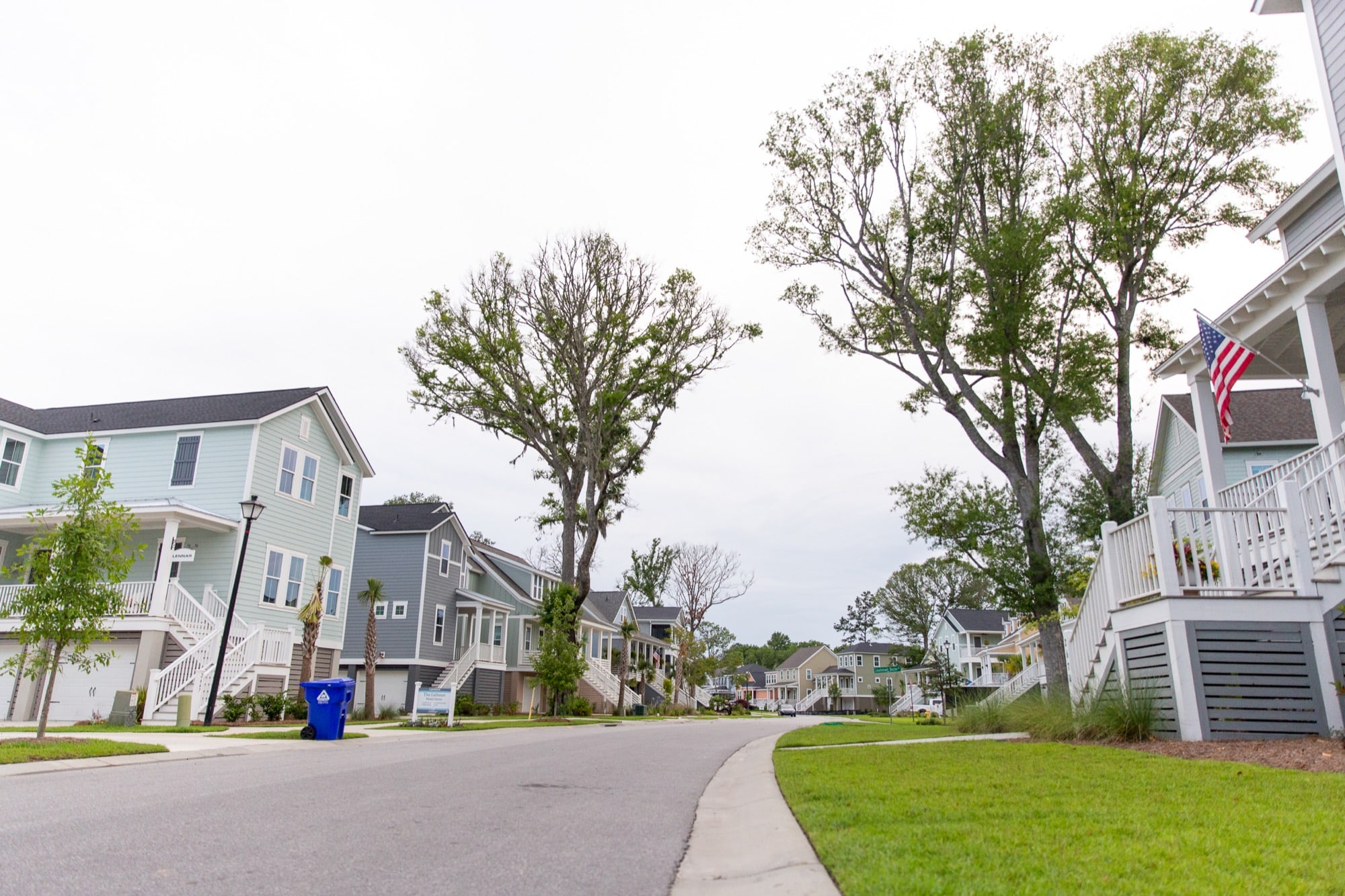 The Stonoview development is one of many in Charleston, South Carolina's fast-growing suburbs that used fill dirt to elevate homes  above the floodplain. (Ellen O'Brien/News21)