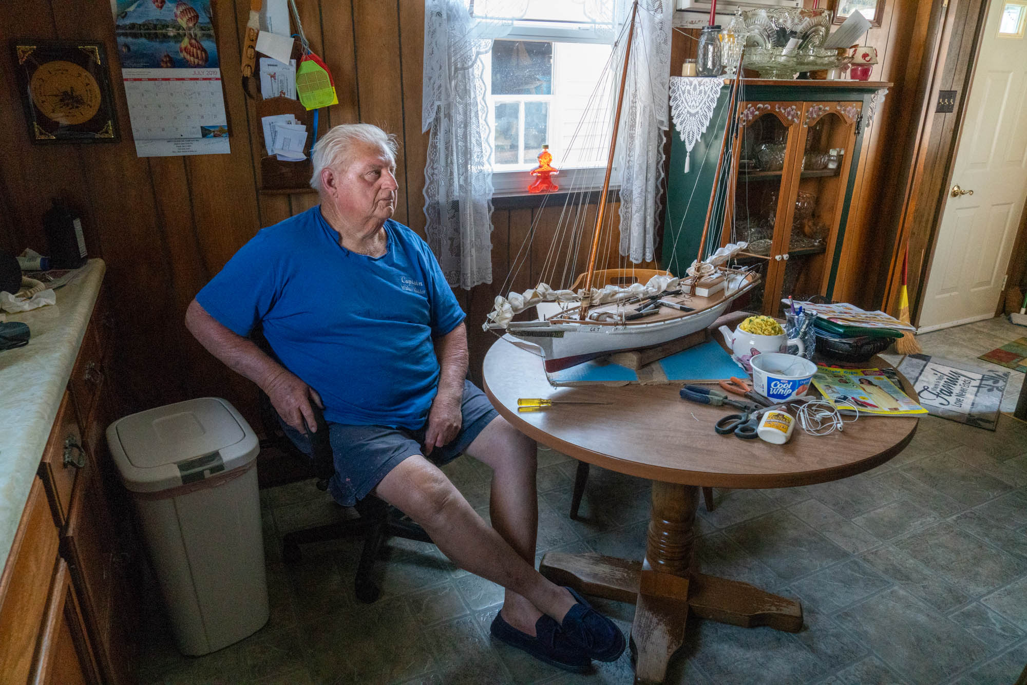 Wesley Bradshaw, a lifelong resident of Smith Island, Maryland, believes the climate is changing but he discounts its role in rising sea levels in Chesapeake Bay. (Jordan Laird/News21)