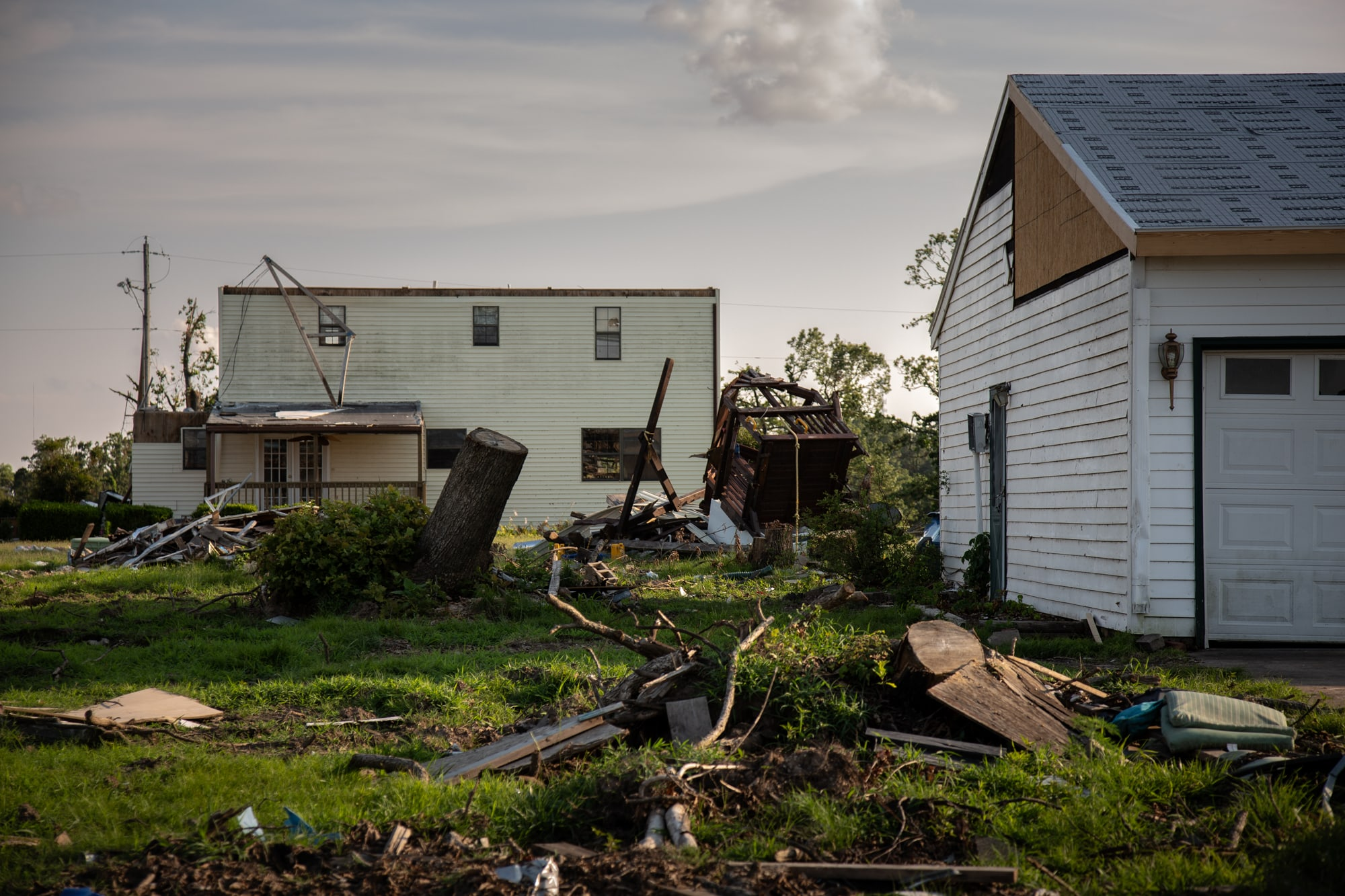 Exactly eight years after an EF5 tornado tore through Joplin, Missouri – killing 161 people and destroying a third of the city's homes – a twister hit Carl Junction, just north of Joplin, on May 22, 2019. (Brigette Waltermire/News21)